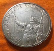 Große Silbermünze 20 Balboas 1977