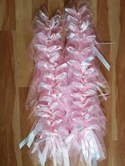 Hochzeitsdeko grau rosa