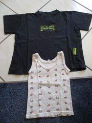 Unterhemd Gr 92 und T-Shirt