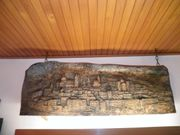 Salzburgrelief Geschnitztes Relief aus Lindenholz