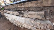 Antik Eichebalken Trocken gelagert