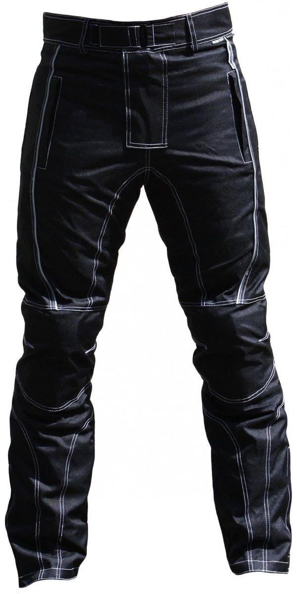 Motorradhose Textil schwarz weiß