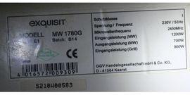 Exquisit MW 1780G Mikrowelle mit: Kleinanzeigen aus Belzig - Rubrik Küchenherde, Grill, Mikrowelle