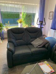 Echtleder Couch Garnitur