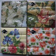Servietten Blumenvielfalt