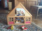 Puppenhaus Holz massiv