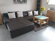 Wohnlandschaft sofa couch braun dunkelbraun