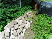 Basalt und Granit Pflastersteine gebraucht