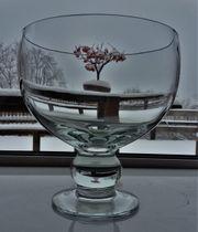 Pokal Glas Dekoglas mit Fuß