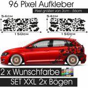 Pixel Aufkleber Dekor Auto Seitenaufkleber