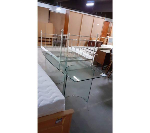 Esstisch aus Glas 160x80 schön -