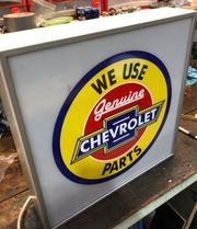 Chevrolet Leuchtreklame Leuchtkasten Neonreklame