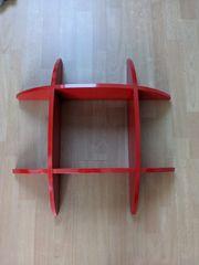 Wandregal Bücherregal rot 60x60
