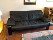 Schöne schwarze Büffelleder Couch von