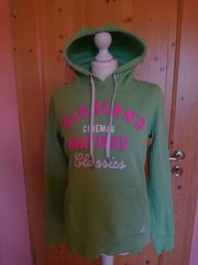 Hoodie Grün mit Kapuze Gr