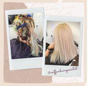 Haar Aufhellung Blondierung mit Olaplex