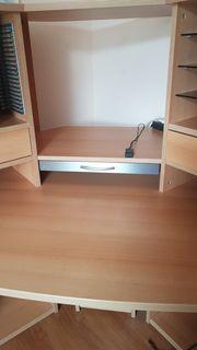 Großer Eck-Schreibtisch aus