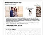 Marketing Assistant m w d