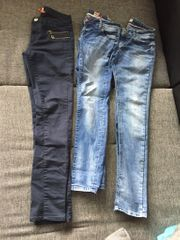 Damen Mädchen Jeans