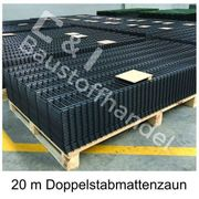 20 Meter Doppelstabmattenzaun Set 656