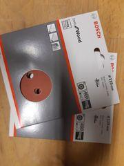10 x Bosch Schleifpapier für