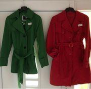 Grüner Mantelgröße 38 30 roter
