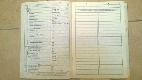 KFZ Brief NSU Prinz Typ