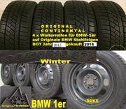 Wie NEU Original BMW-1er WinterReifen