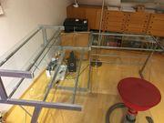 Schreibtisch Winkel Glas
