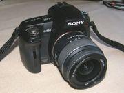 Sony DSLR-A450 SLR-Digitalkamera mit Objektiv