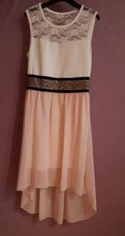 Mädchen Kleid in Weiß Rosa