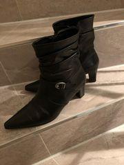 Stiefelette Leder schwarz Größe 40