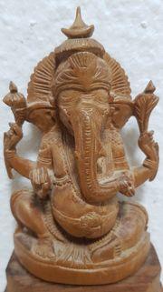 Ganesha der Elefantengott Figur Massivholz