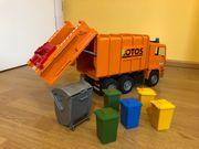 Kinderspielzeug Müll-LKW SCANIA orange von