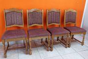 4 Stühle dunkles Holz mit
