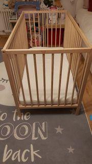 Babybett mit Matratze Ikea