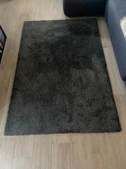 Zottelteppich grau 200 x135 cm