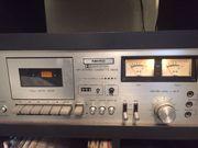 Plattenspieler und Cassettendeck plus Regal