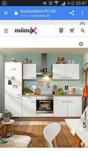Küchenblock mit E- Geräten Spüle