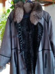 Leder Pelzmantel beidseitig zu tragen