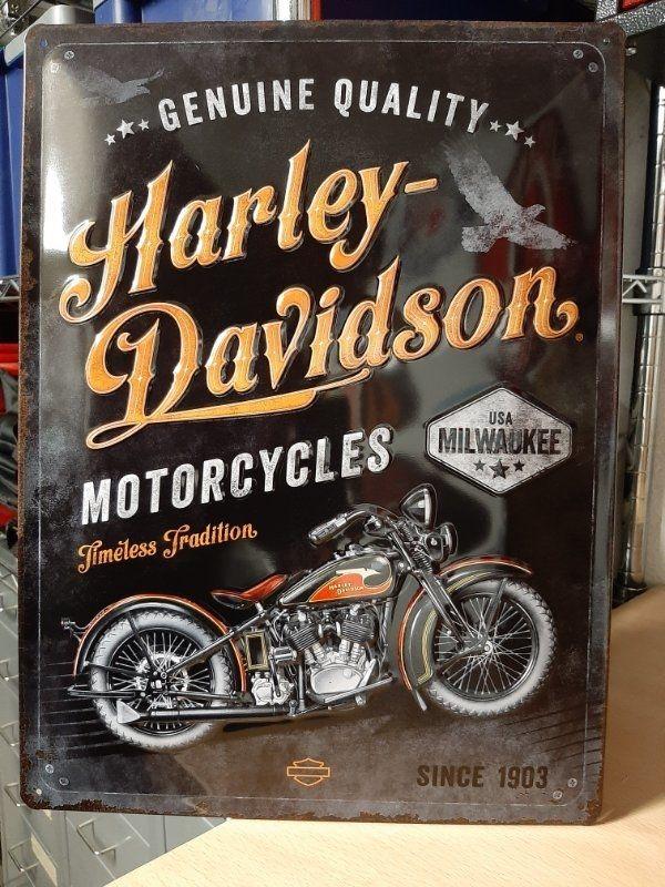 Harley Davidson Metallschild
