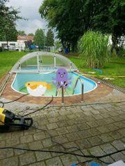 Pool mit Pooldach und Zubehör