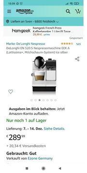 DeLonghi Nespressomaschine Lattissima Milchschaum-System Neupreis