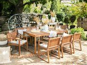 Gartenmöbel Set Akazienholz 8-Sitzer mit
