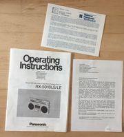 PANASONIC RX-5010LS RADIO KASSETTENRECORDER 1980er