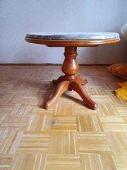 Marmor Tisch mit edelm Holzfuß