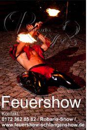 Schlangenshow Feuershow Bayern Thüringen