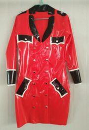 Heißes Latex Uniform Kleid Gummi