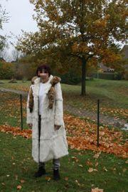 Damen-Pelzmantel Damen-Jacke aus Kaninchenfell mit