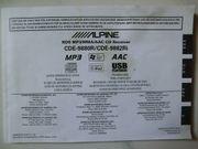 Bedienungs- Einbauanleitung ALPINE-Autoradio CDE 9880